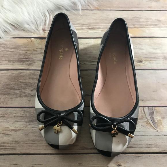 fdf0173931 kate spade Shoes - KATE SPADE WILLA FLATS BLACK AND WHITE PLAID
